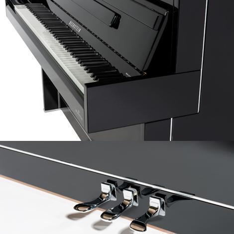 پیانو آکوستیک دیواری بکشتاین مدل Bechstein B 112 Modern Chrome Art